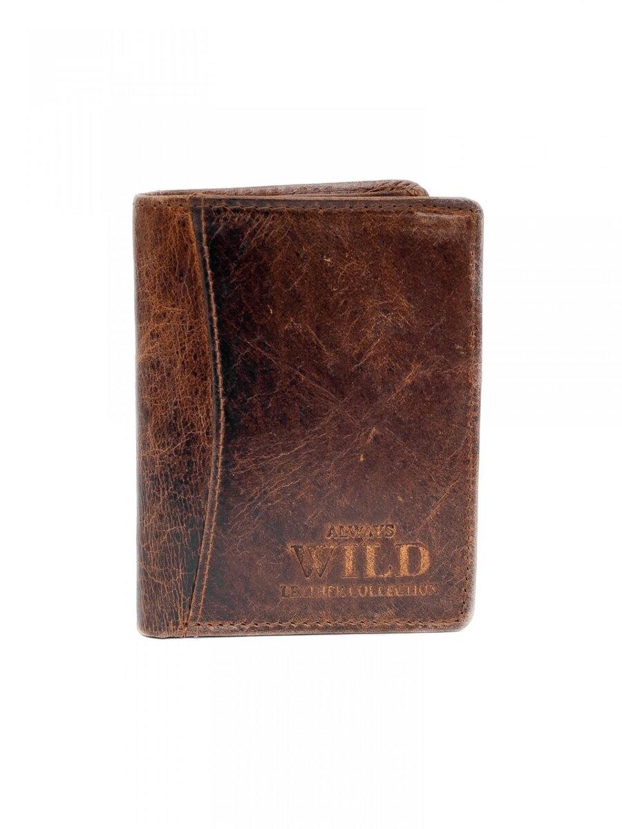 269cd5a46ed9 Pánska kožená peňaženka ALWAYS WILD N107 tmavohnedá