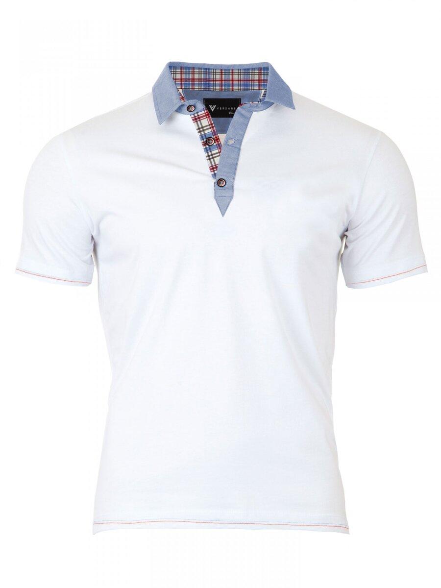 0380caad77d1 Pánske Polo tričko Versabe biele VS-PoloM 1909