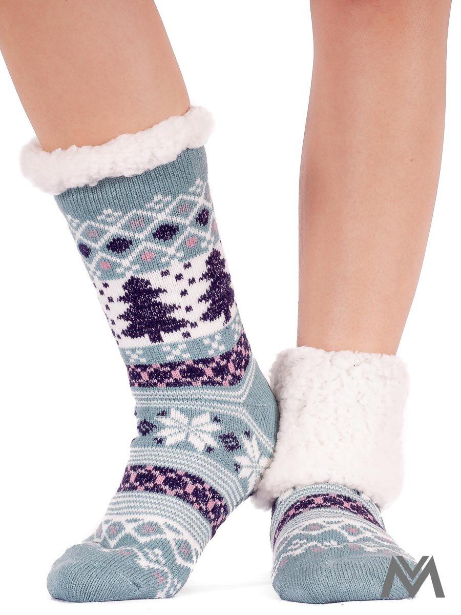 Dámske termo ponožky stromček mentolové  50d2cf28d1