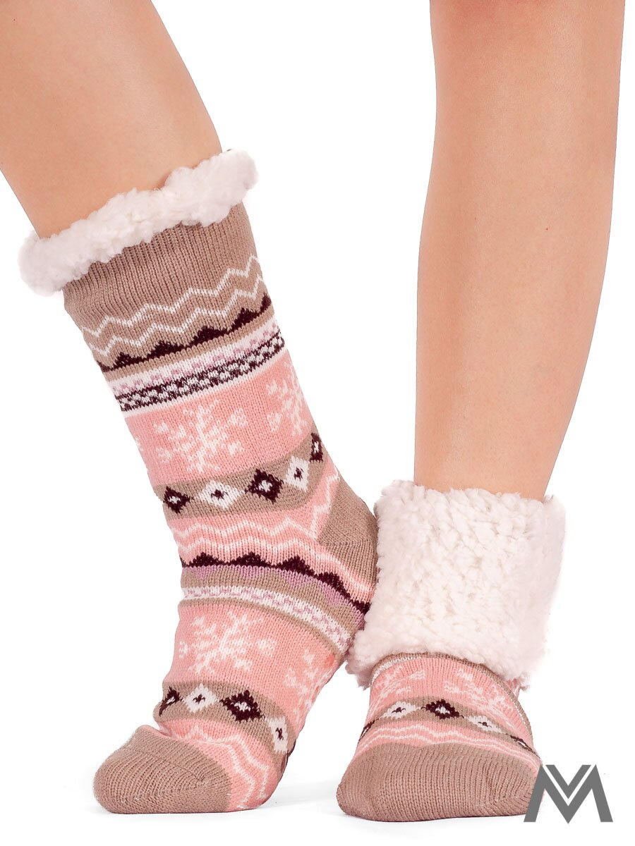 Dámske termo ponožky vločka cappucinove  461b191000