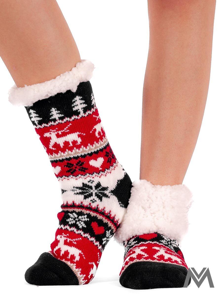 cedc0e80ded Termo ponožky vianoce tmavomodré