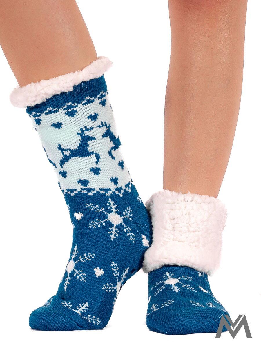 cb67d2ba760 Dámske termo ponožky snehová vločka tyrkysové