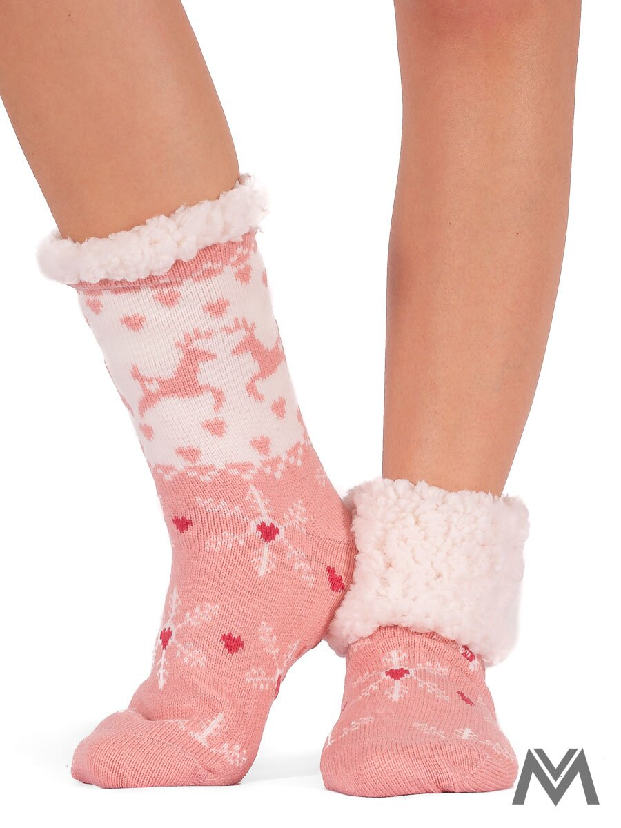 64c077e56e0 Termo ponožky snehová vločka ružové