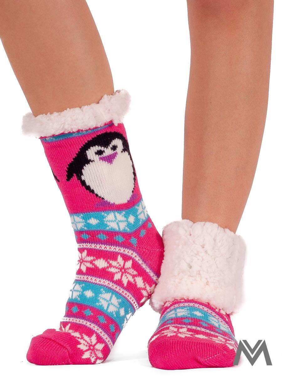 42d60649b5d Termo ponožky tučniačik ružové