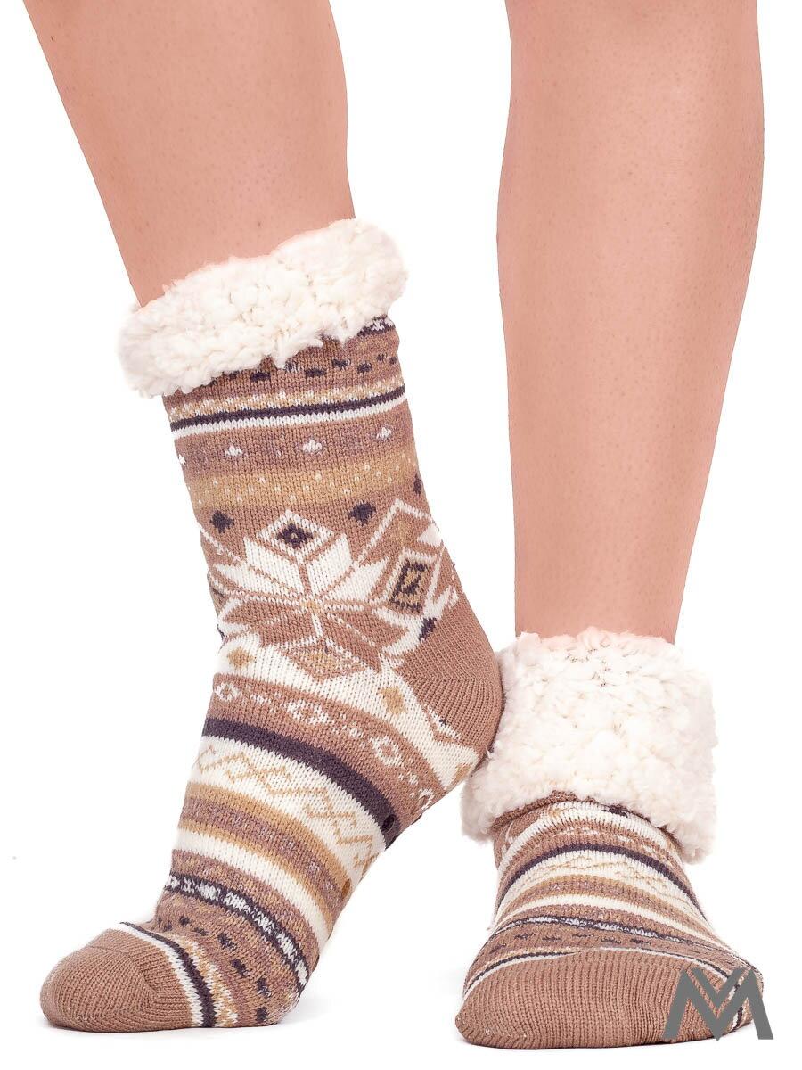 fd5f8ef4a37b Termo ponožky Vianočný zázrak béžové