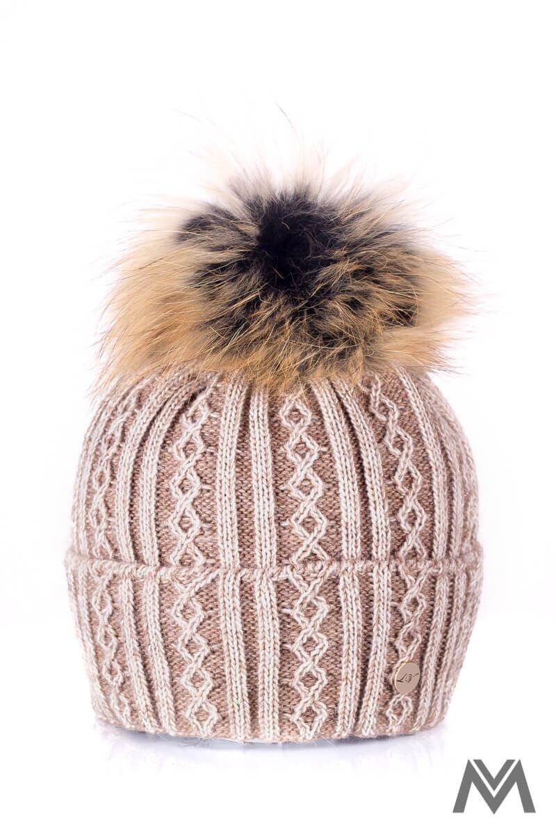 b67874e0b Luxusná vlnená čiapka na zimu Marzita hnedá| ModneVeci.sk