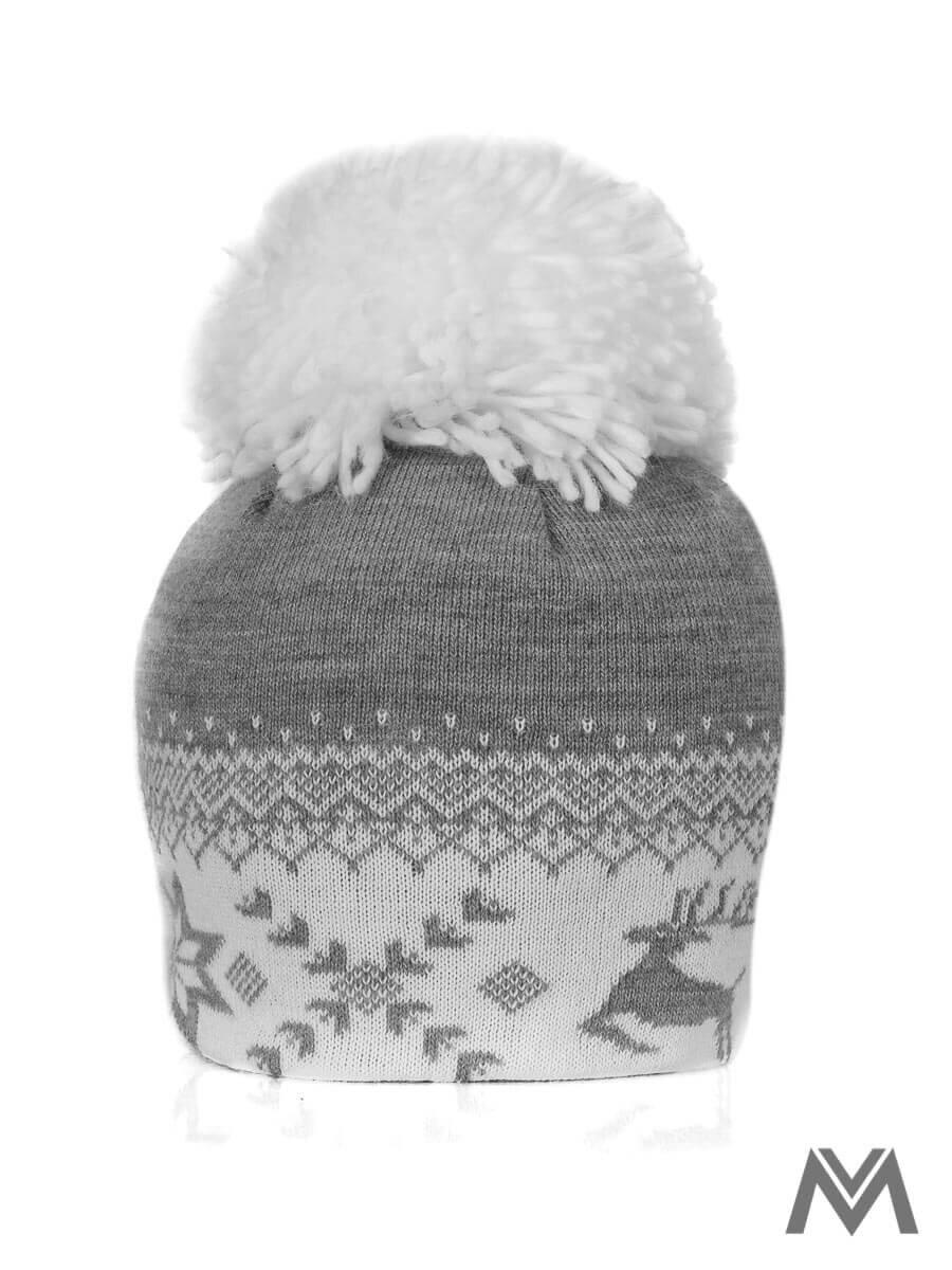 4bdb6ebe7 Dámska čiapka s Vianočným motívom sivá | ModneVeci.sk