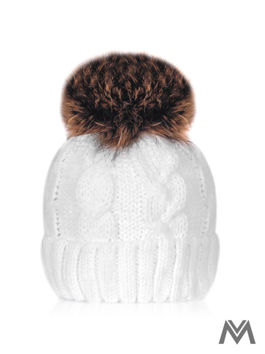 e1df2d6742e96 Dámska čiapka s brmbolcom biela |ModneVeci.sk