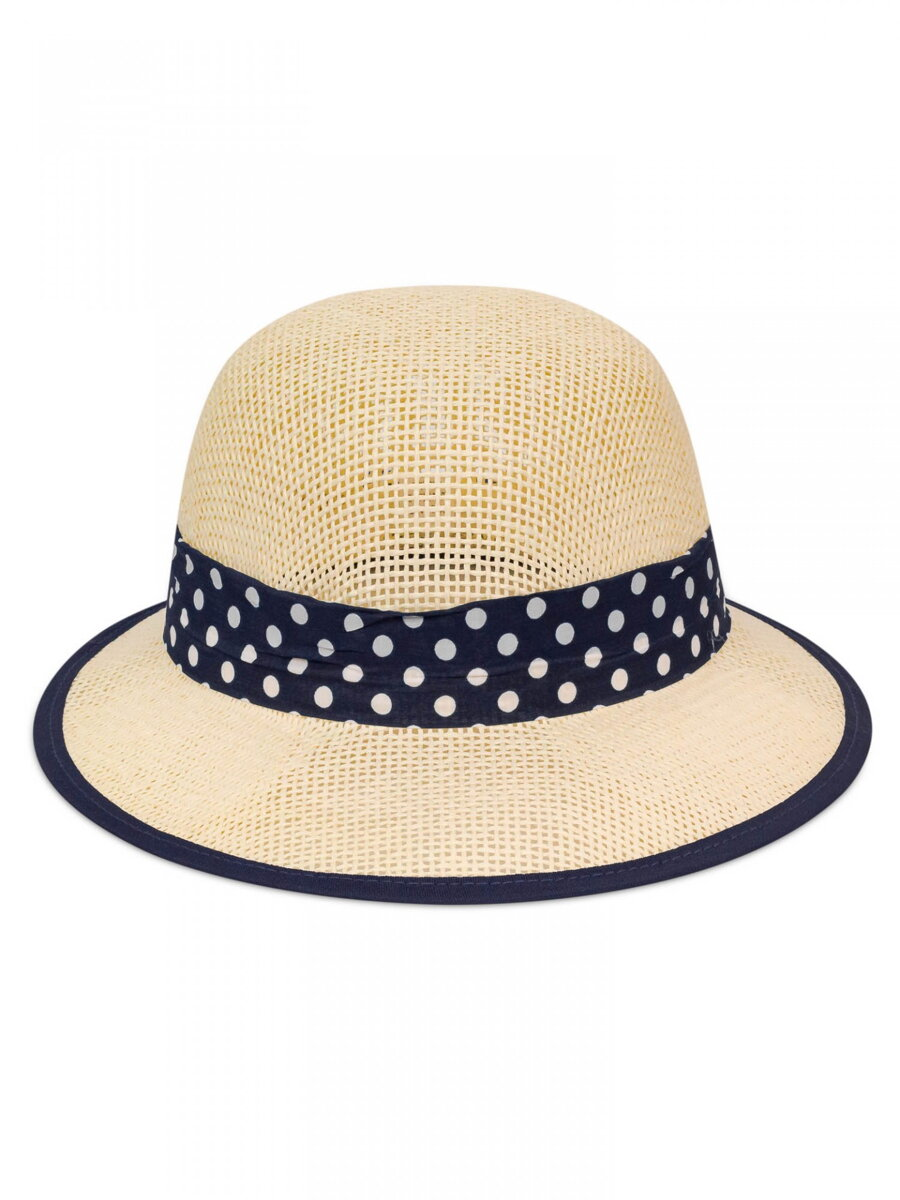 9ab28a51f Dámsky slnečný klobúk so stužkou KDS- 22 maslovo-modrý | ModneVeci ...