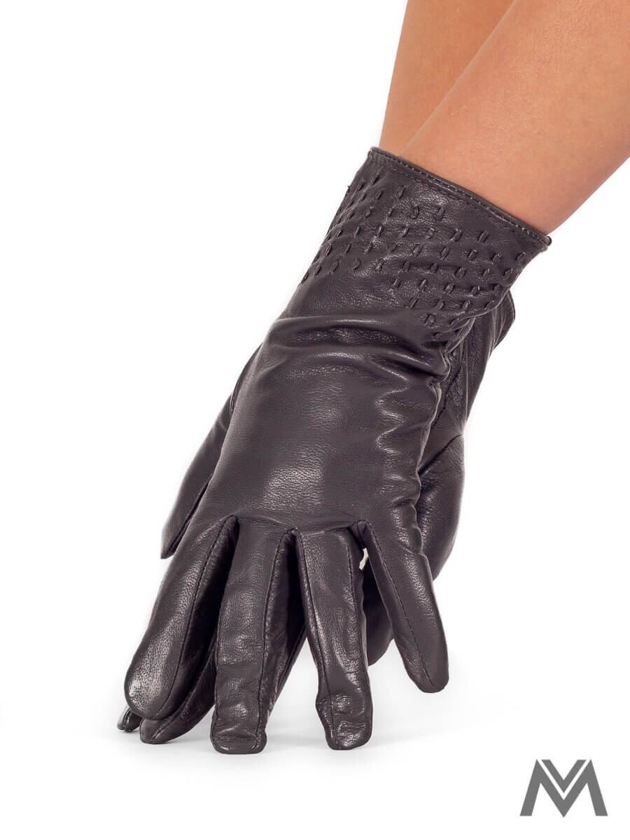 19472b71d21 Dámske kožené rukavice tmavo šedé
