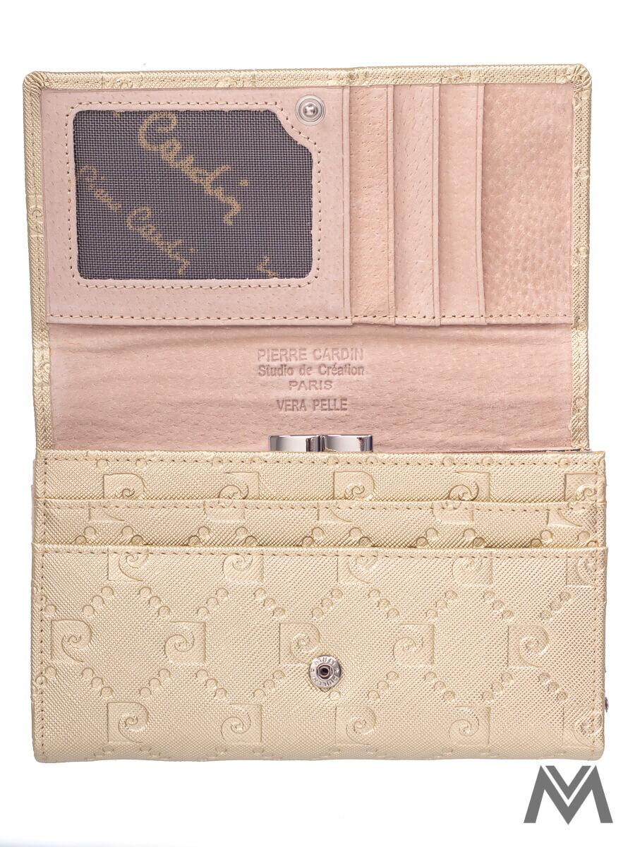 61d8cd34c9 Dámska kožená peňaženka Pierre Cardin PSP79 zlatá