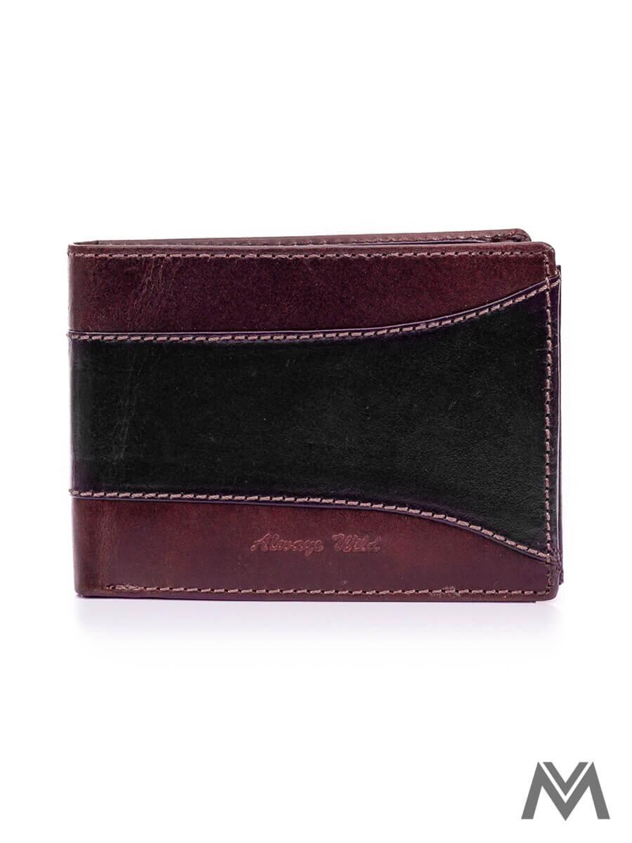 bd34d2c9a Pánska kožená peňaženka WILD N992-SEL čierna/hnedá | ModneVeci.sk