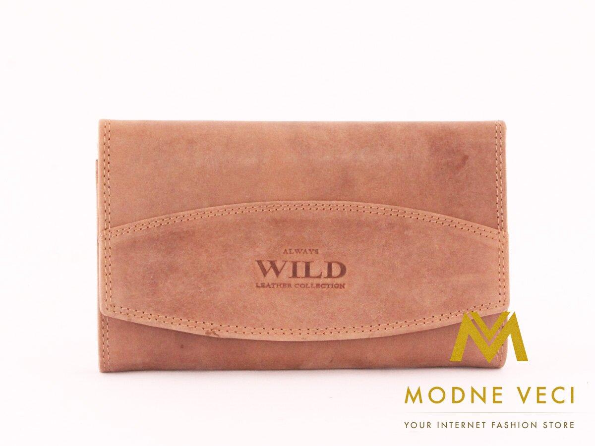 Dámska peňaženka od značky WILD V pieskovej farbe