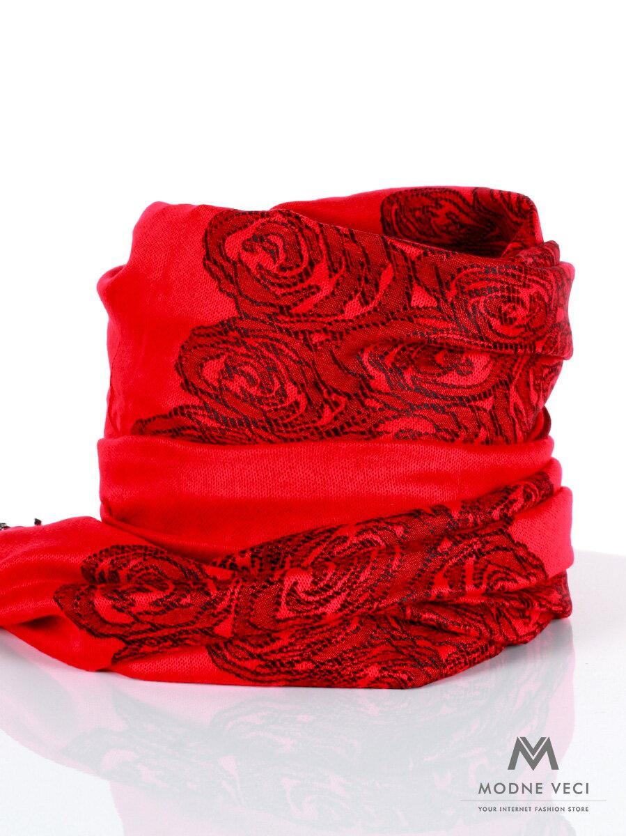 9eb895ff826 Dámska pašmínová šatka- krvavo červená