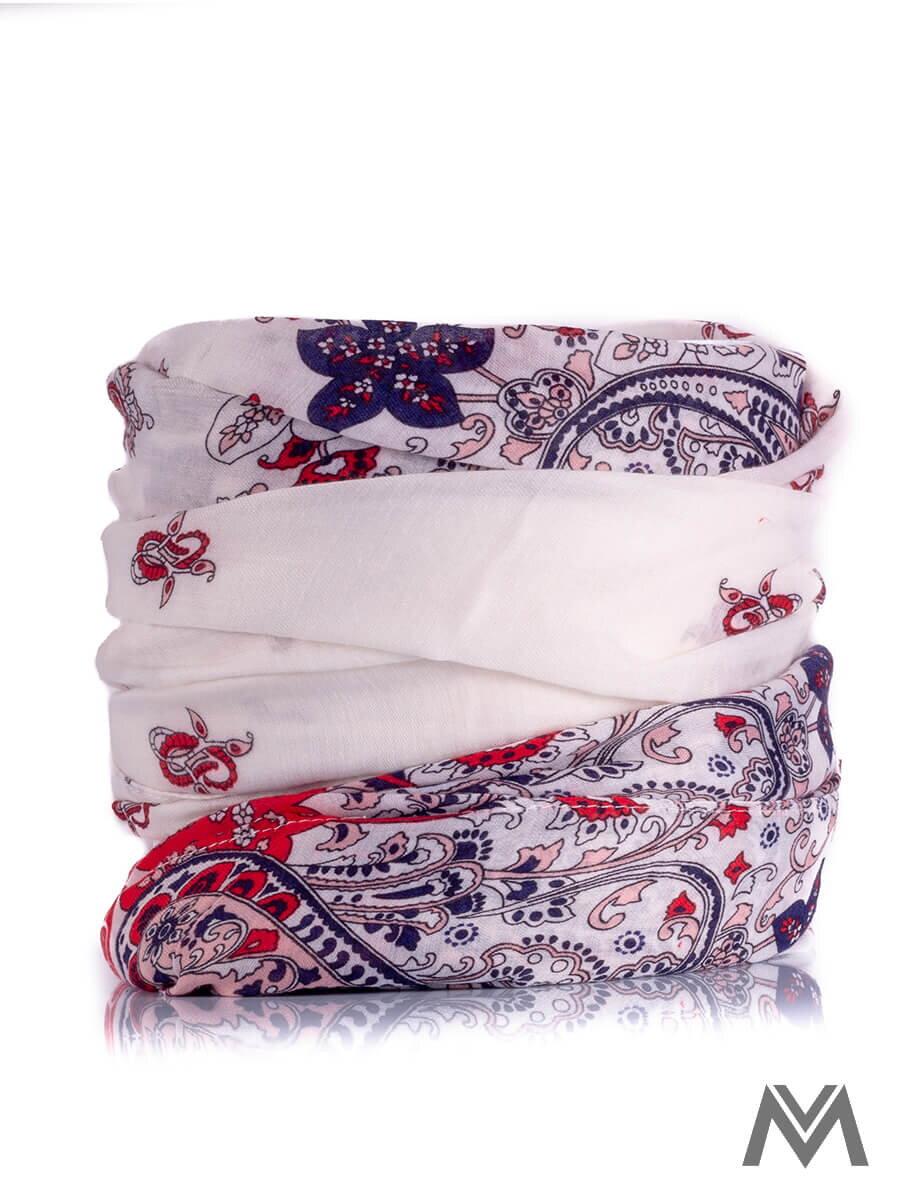 ecbdba855 Bavlnená šatka B1 s červeným ornamentom | ModneVeci.sk