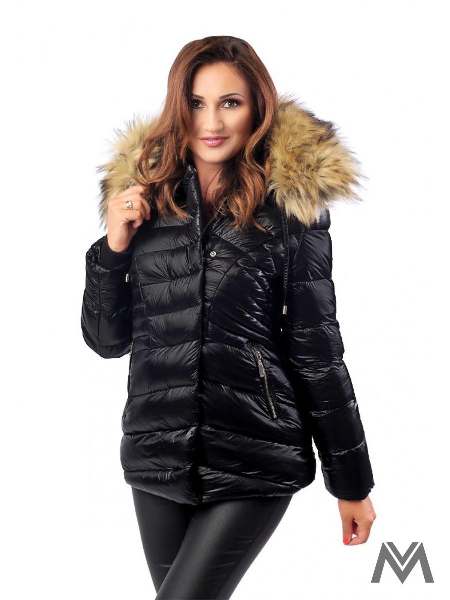 461e9254d3f8 Dámska zimná bunda čierna BK-204A matná