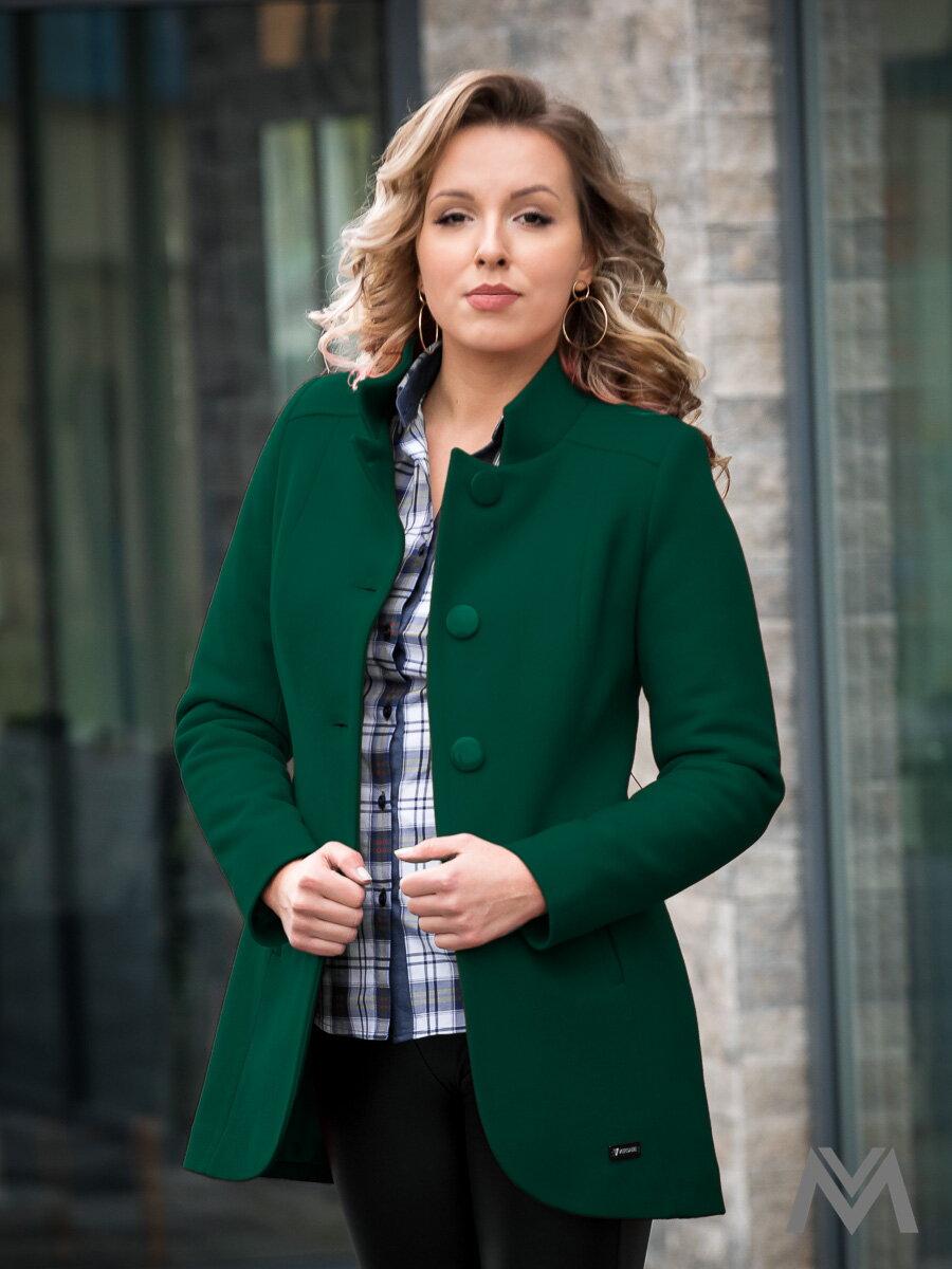 9740bba047 Elegantný dámsky kabát IGA zelený ...