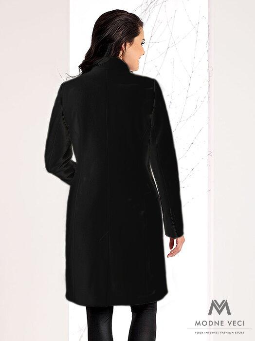Luxusný dámsky kabát na zimu v SLIMFIT strihu NINA čierny ... b4b385fb173