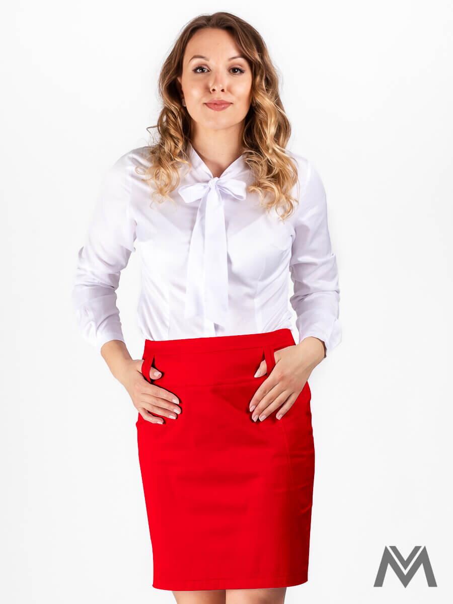 dea26a295972 Dámska puzdrová sukňa červená VS-SU-1802