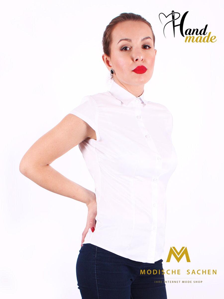2d70cfe8ae68 Biela dámska košeľa s mašličkou Slim Fit VS-DK1722 - folklórna mašľa ...