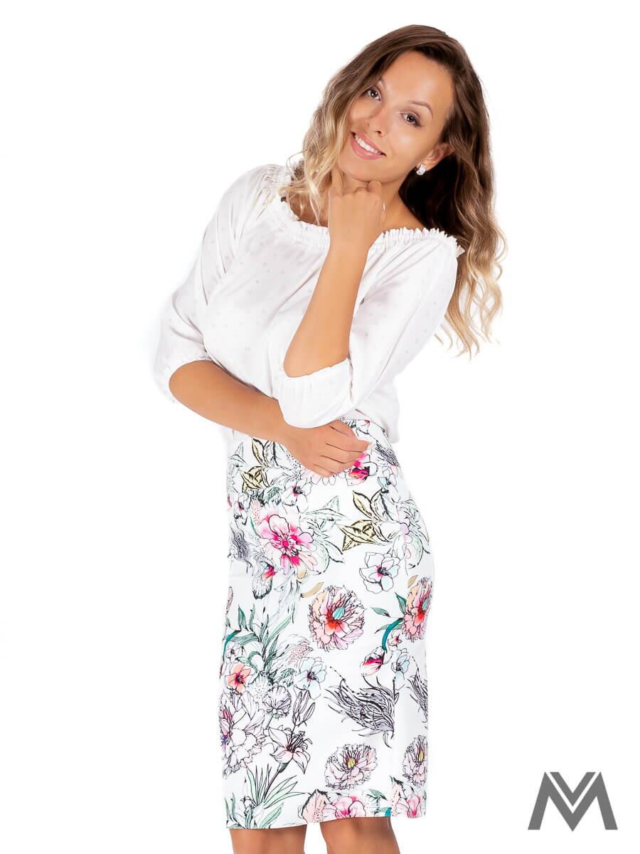 68061f94b610 Dámska puzdrová sukňa VS-SU-1850 kvetinová