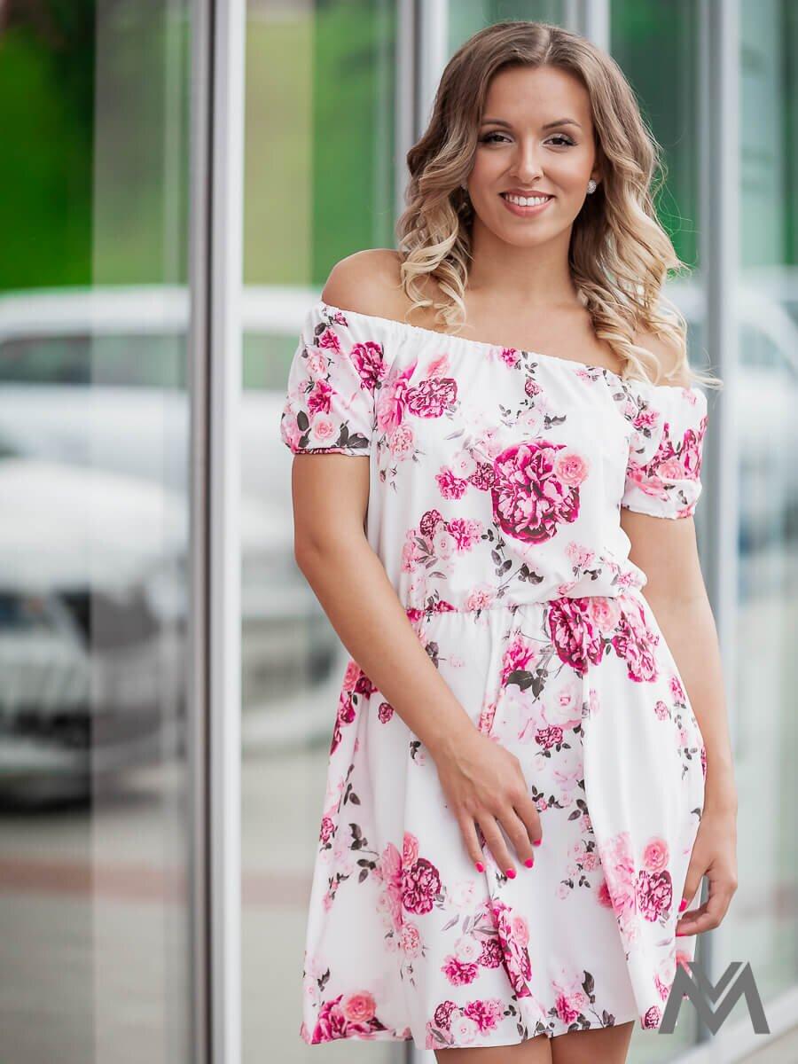 7462276a8beb Dámske šaty na leto VS-SA 1859 ružový kvet