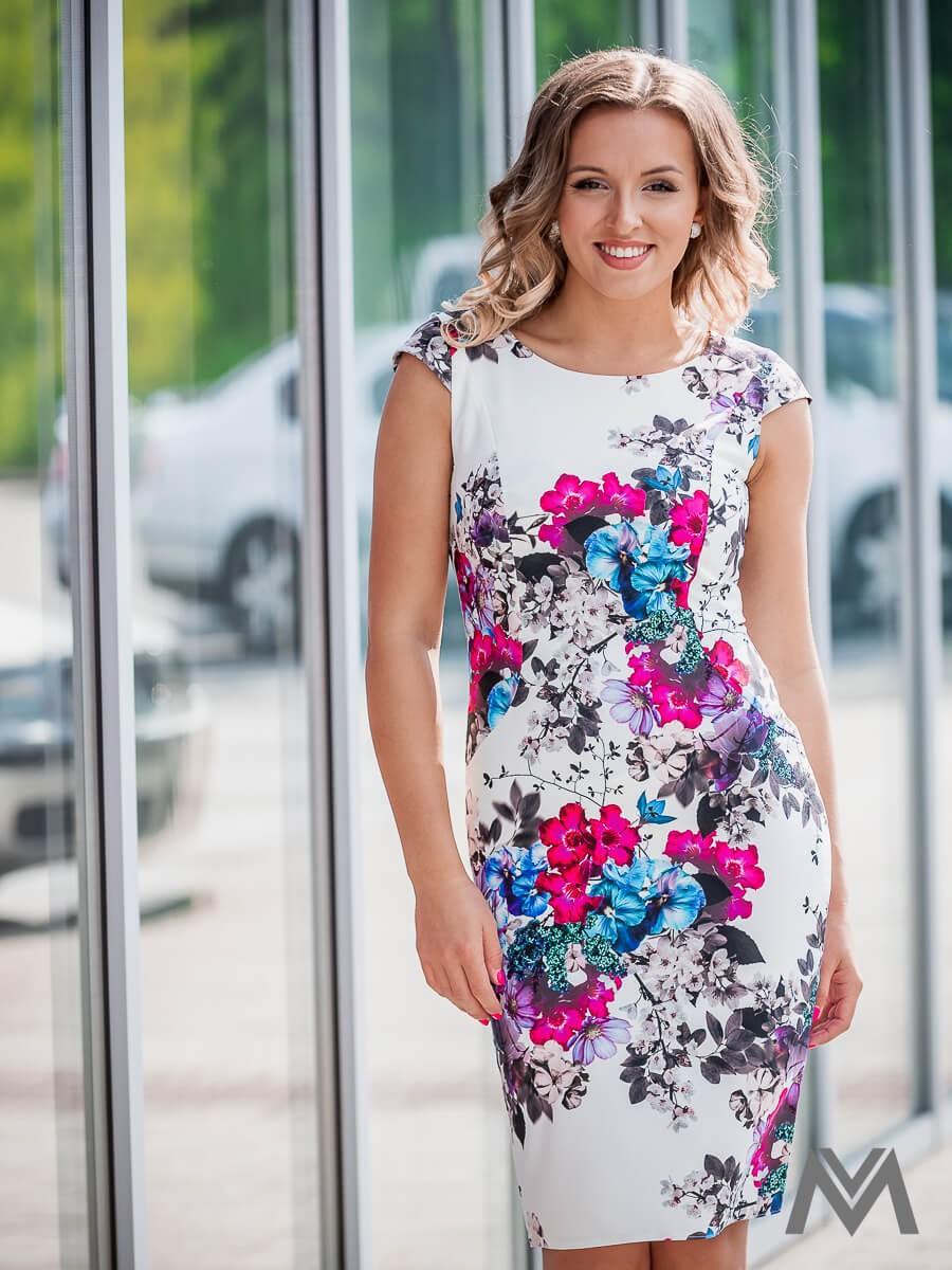 ea2606c211 Dámske puzdrové šaty VS-SA 1863 kvetinové