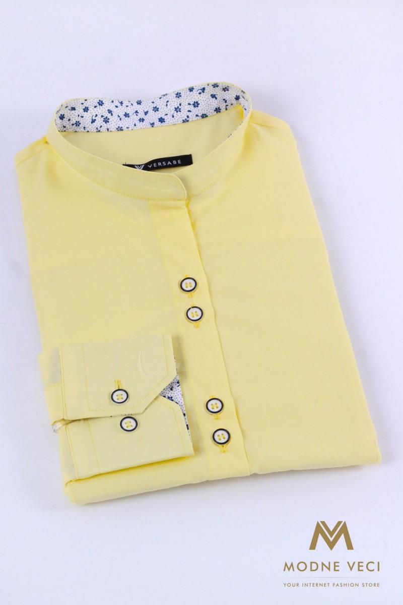 Krásna košeľa v pastelovo žltej farbe pre ženy