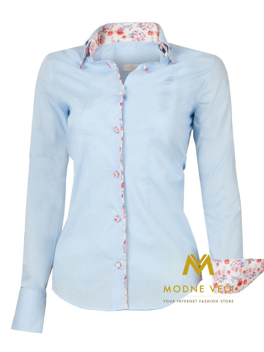 44fadca77f71 Dámska košeľa - Slim Fit KD31 bledo modrá