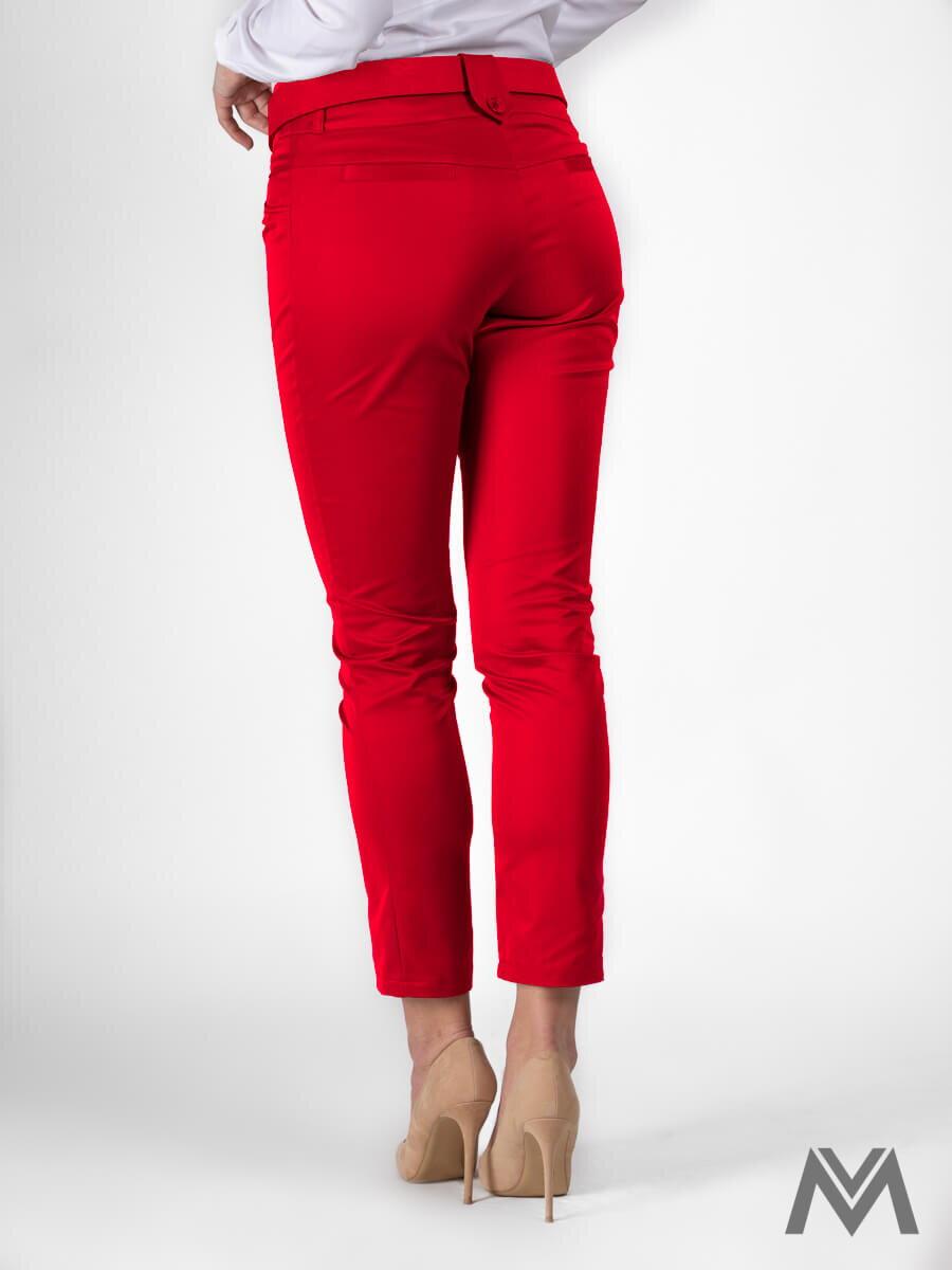 Elegantné dámske nohavice červené VS-DN-1802  75e2c025a65