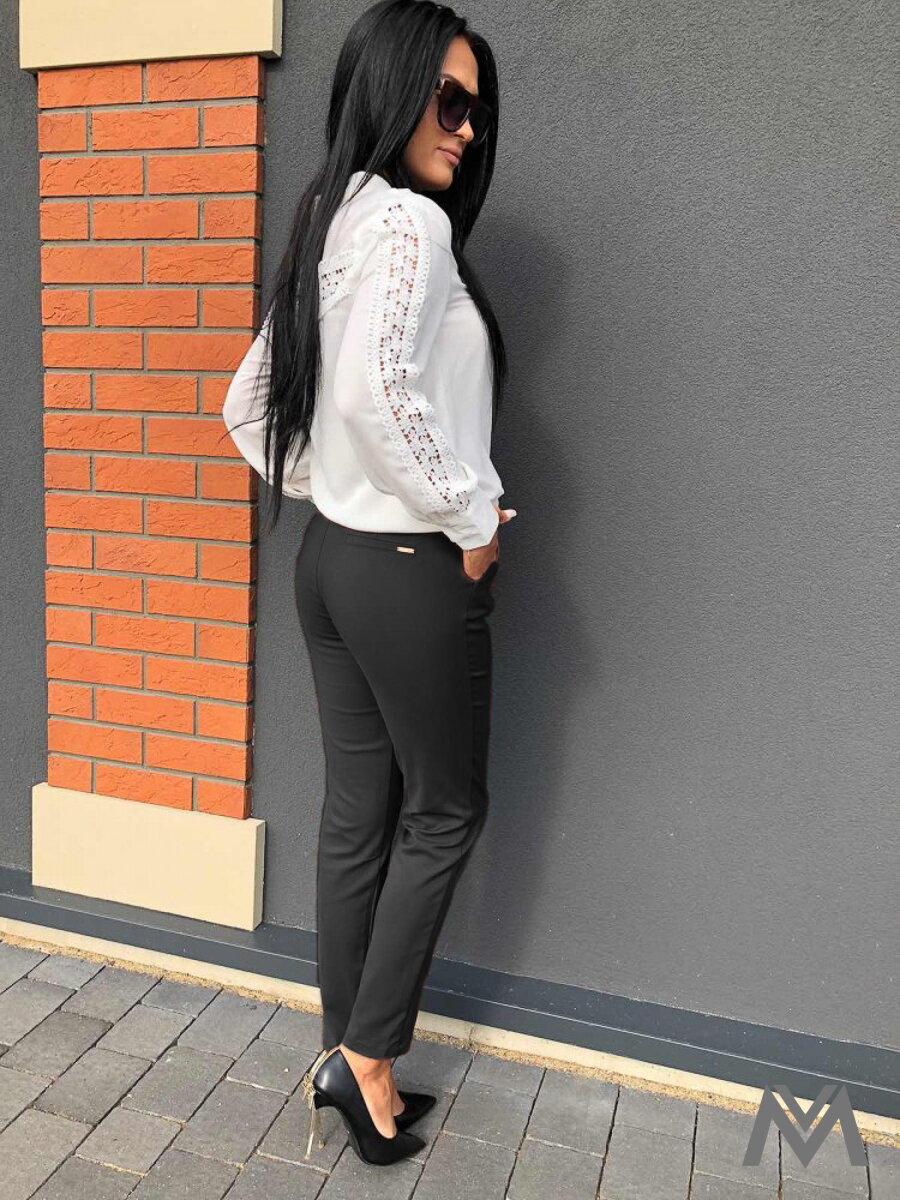 de86214ab290 Elegantné dámske nohavice sivé H8920
