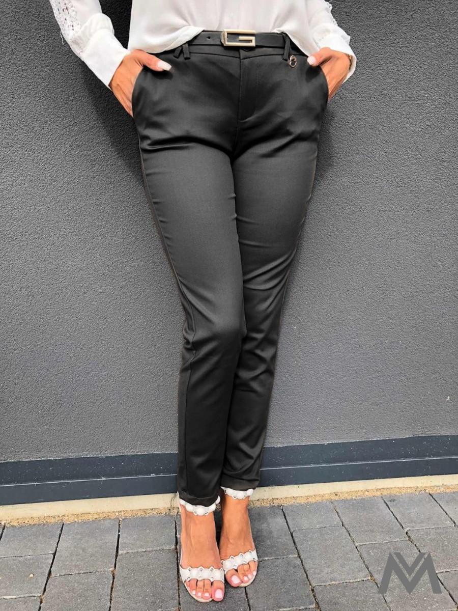 48cfcf53f5ee Elegantné dámske nohavice sivé H8920