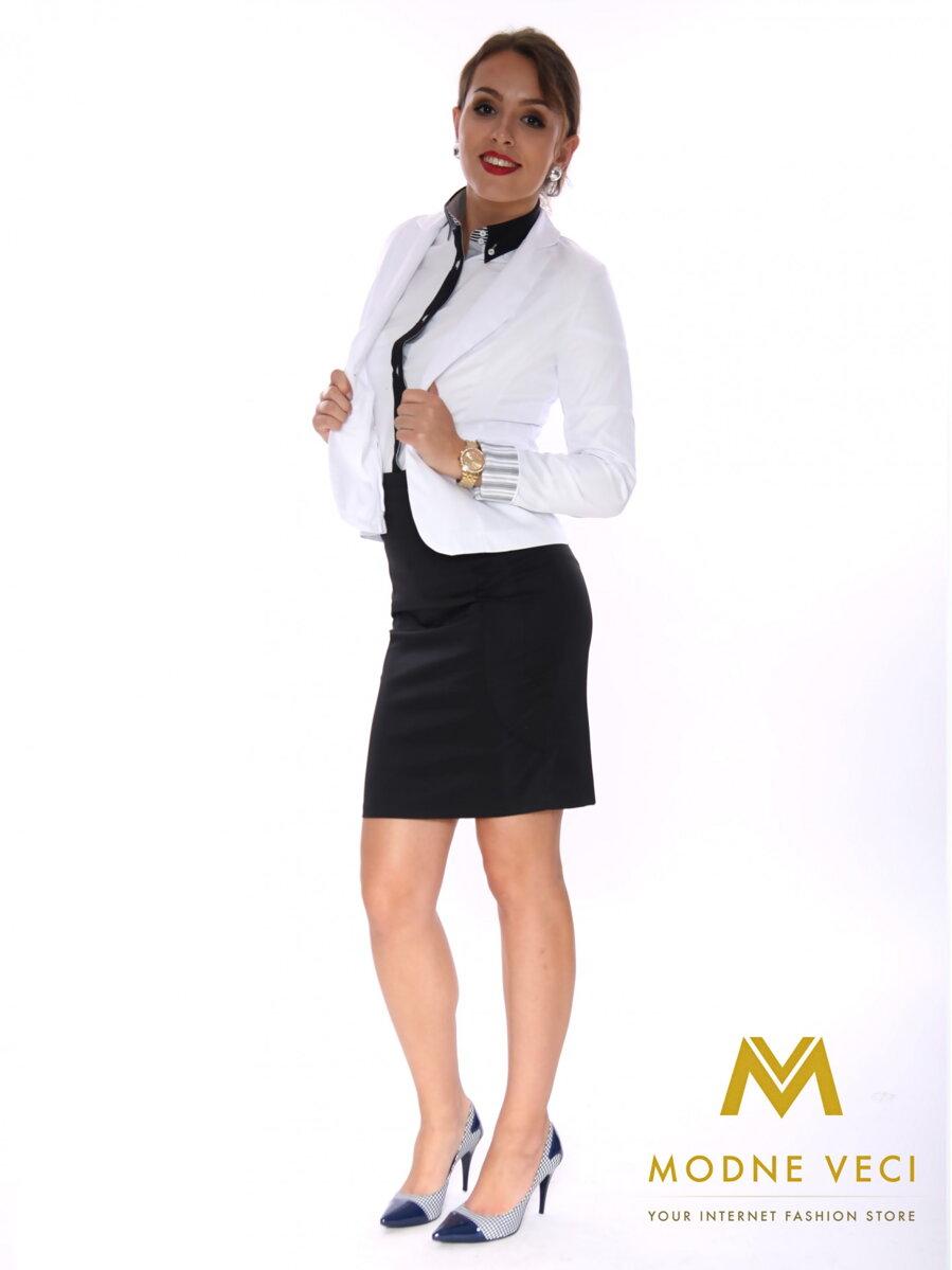 e8ef09c9f384 Elegantné dámske sako biele