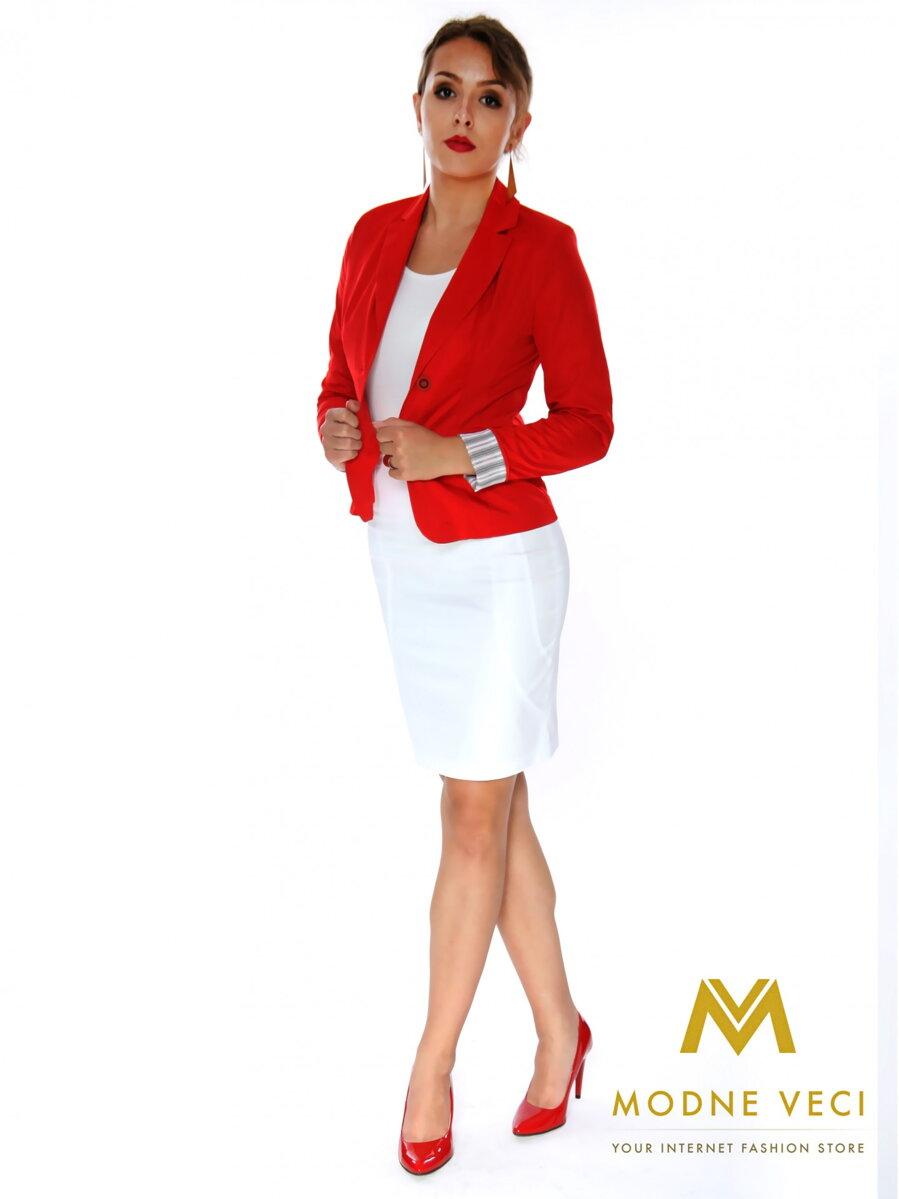 a1898fc88d76 Elegantné dámske sako červené doručenie do 24 hod