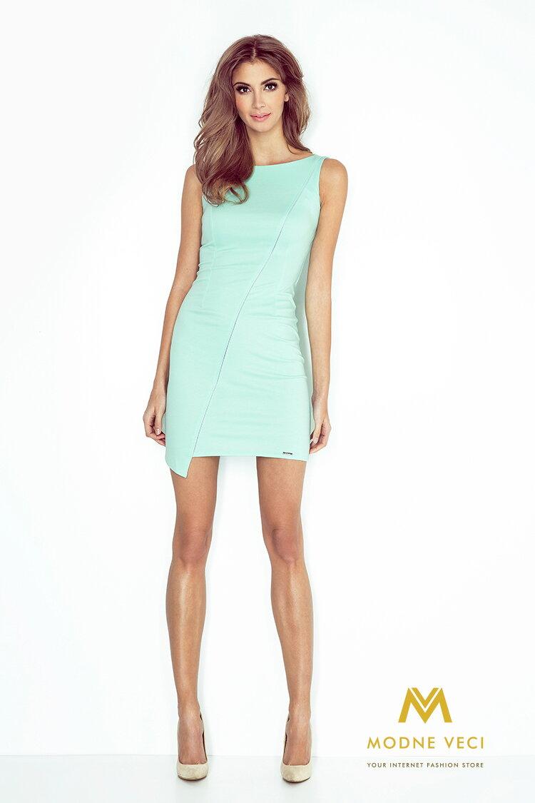 Krásne dámske šaty - mätové MM 004-3 14b7362061c