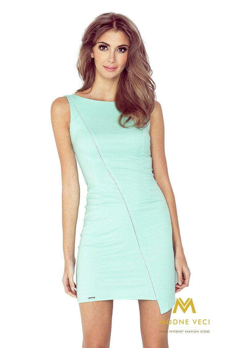 f77e657094ff Krásne dámske šaty - mätové MM 004-3