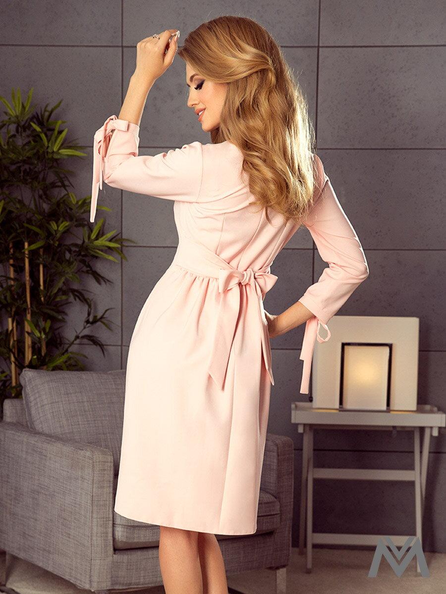 8b432ceaf6ca Elegantné dámske šaty Alice 195-2 broskyňové ...