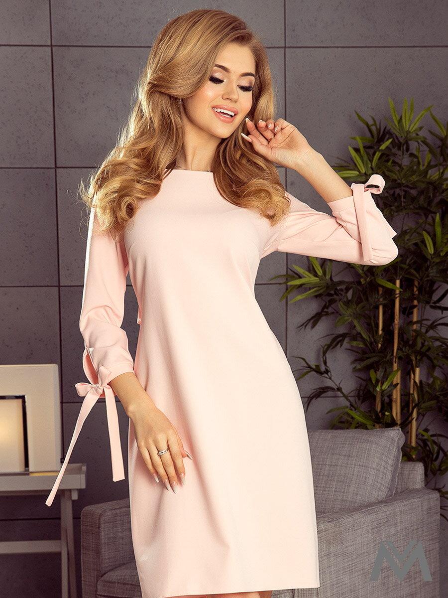 078b368f8c7d Elegantné dámske šaty Alice 195-2 broskyňové