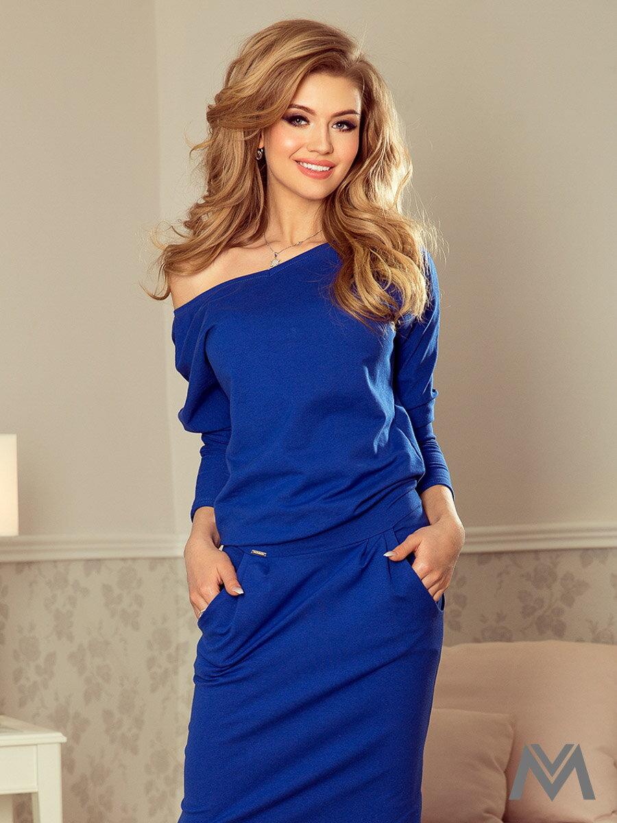 355344836 Dámske športové šaty Chabrowa 189-2 kráľovsky modré
