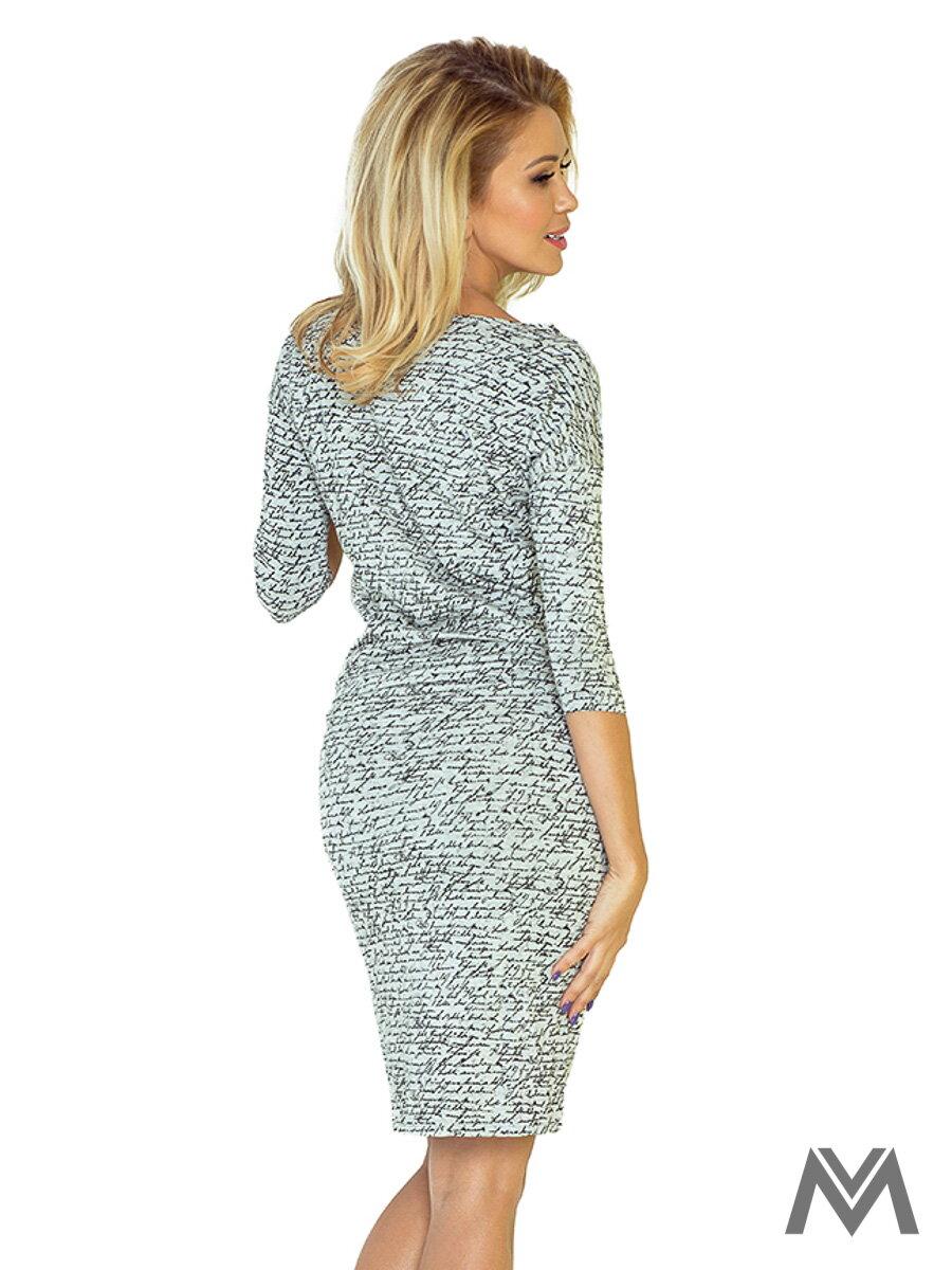 Športovo-elegantné šaty s lodičkovým výstrihom 13-10 svetlošedé dámske  letné ... 595bcbd671f