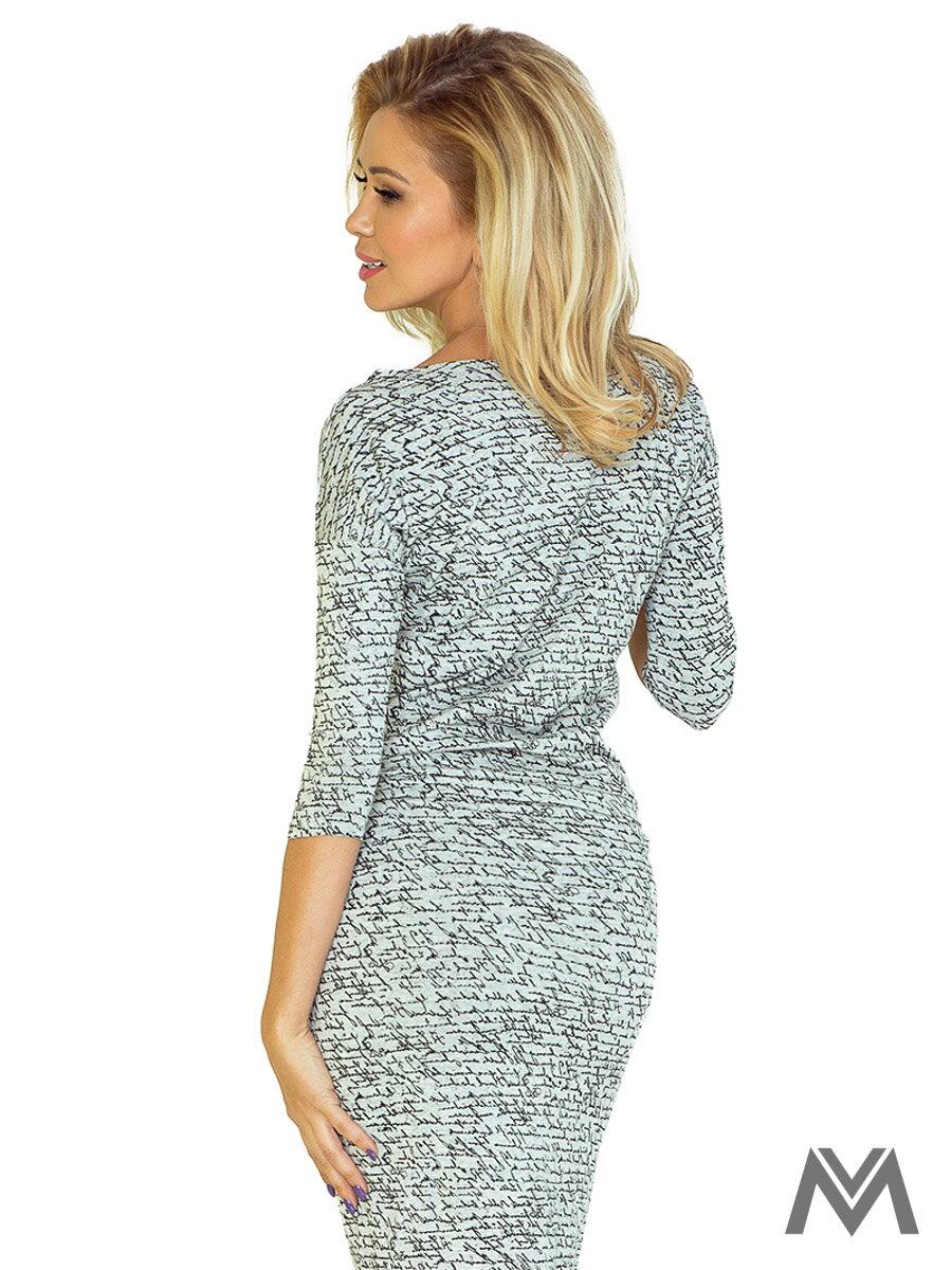 bdd5e49fb4ac Športovo-elegantné šaty s lodičkovým výstrihom 13-10 svetlošedé dámske  letné ...