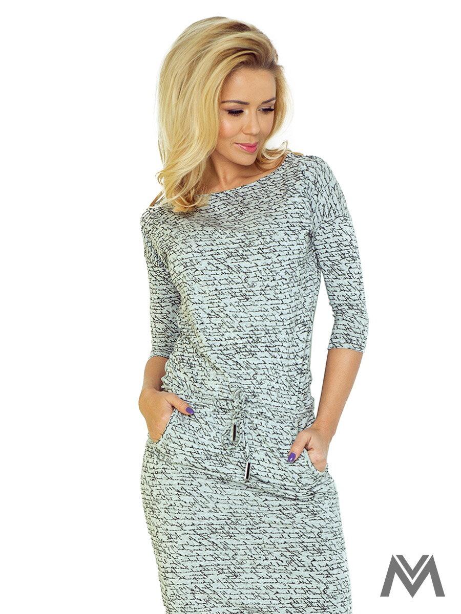 6f786fce0fdc Športovo-elegantné šaty s lodičkovým výstrihom 13-10 svetlošedé ...