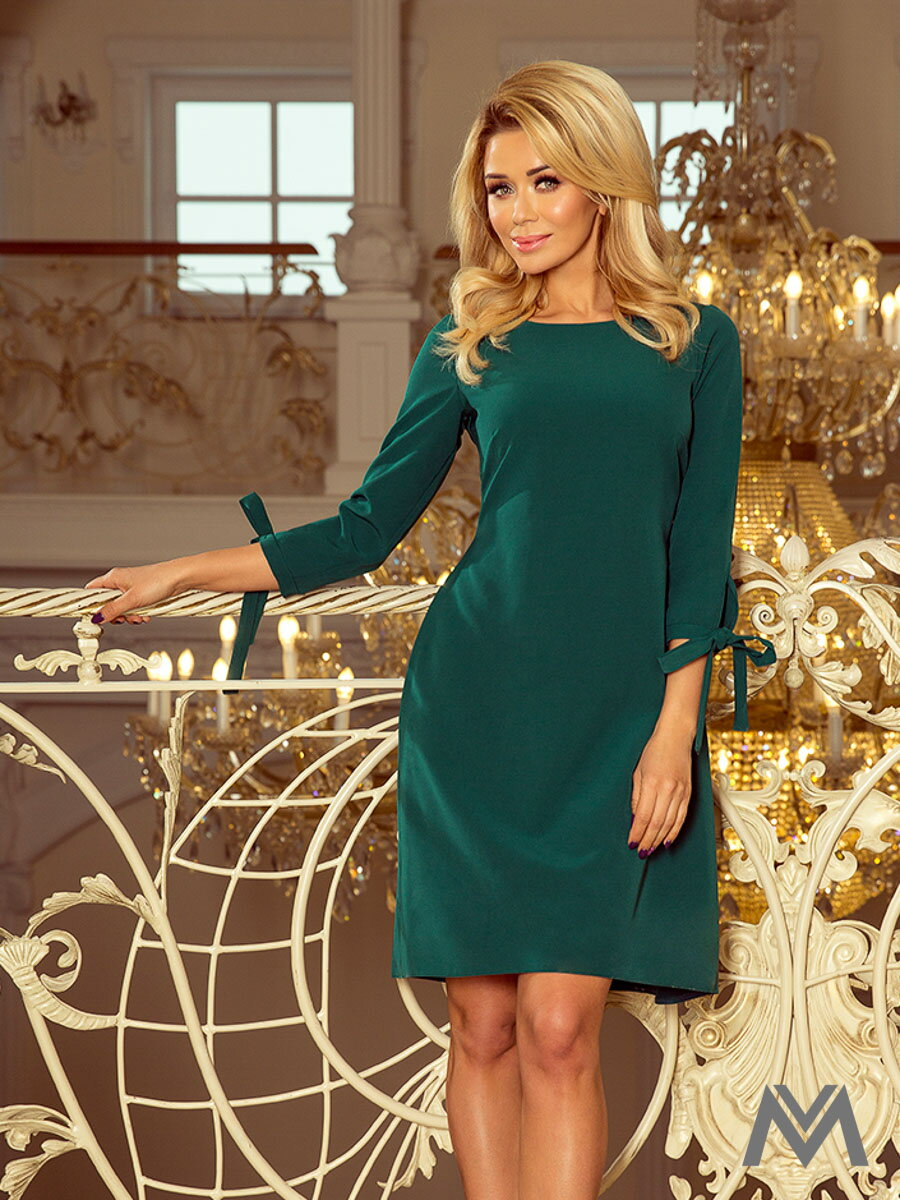 Elegantné dámske šaty Alice 195-1 smaragdové ... 086475cfb9b