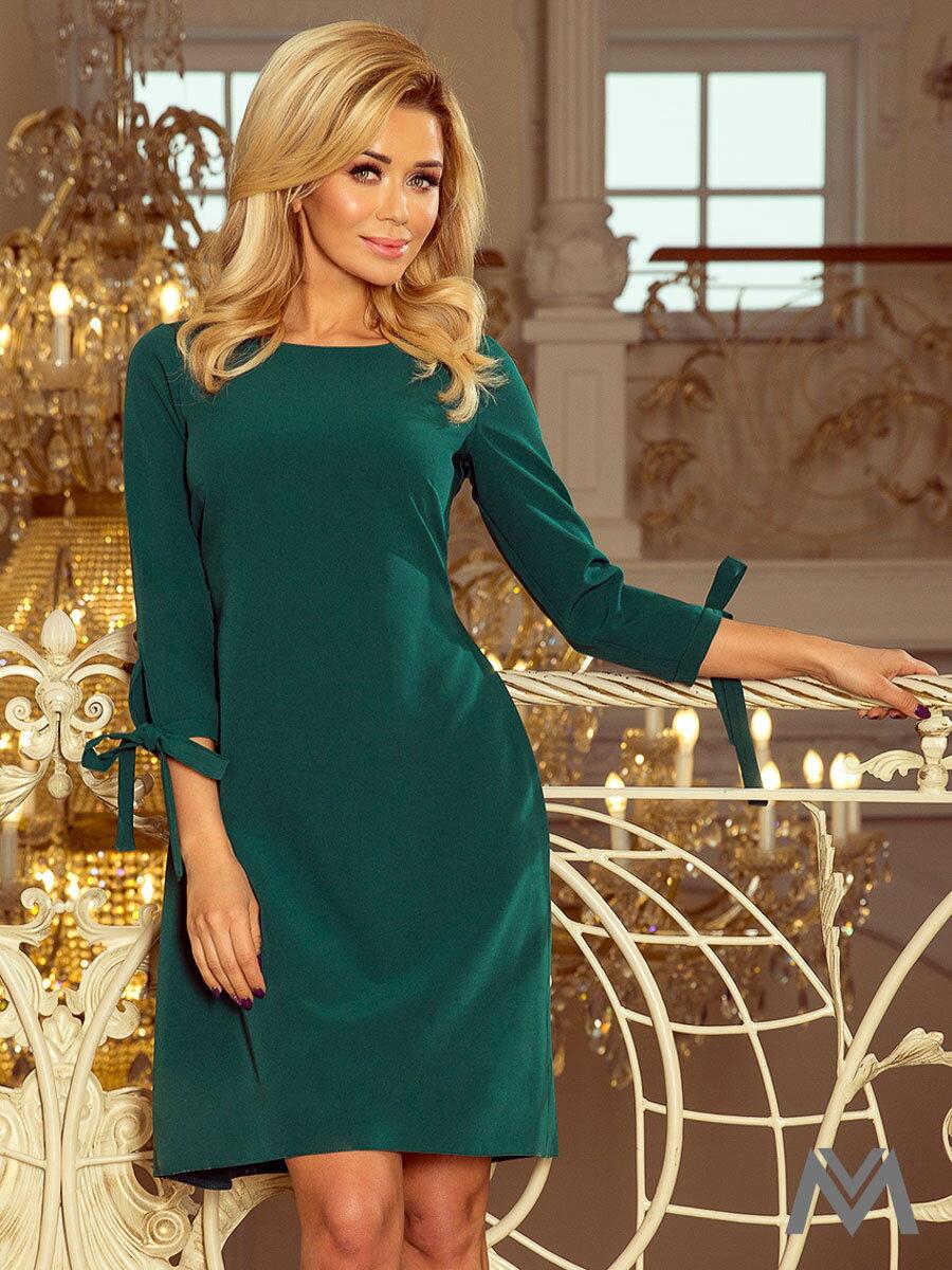 a68eb79f97c Elegantné dámske šaty Alice 195-1 smaragdové