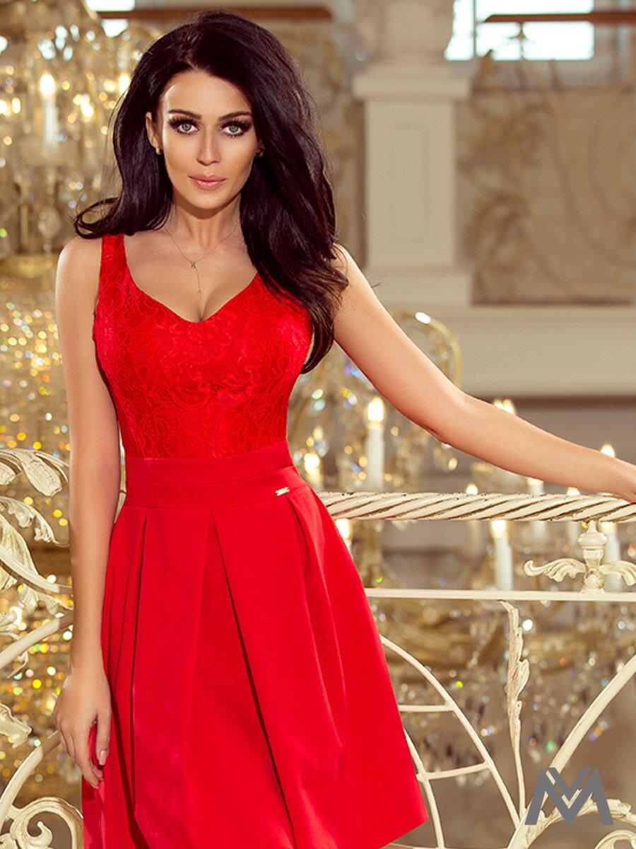Dámske spoločenské šaty 208-2 červené ... b352dcba744