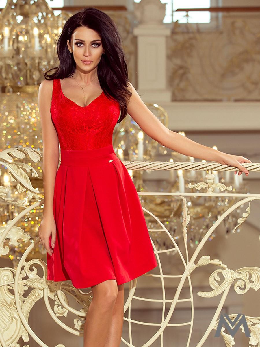 309d26087fef Dámske spoločenské šaty 208-2 červené