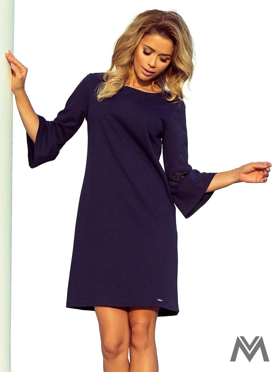 67f294c4c Dámske šaty s rozšíreným rukávom Margaret 190-6 tmavomodré ...