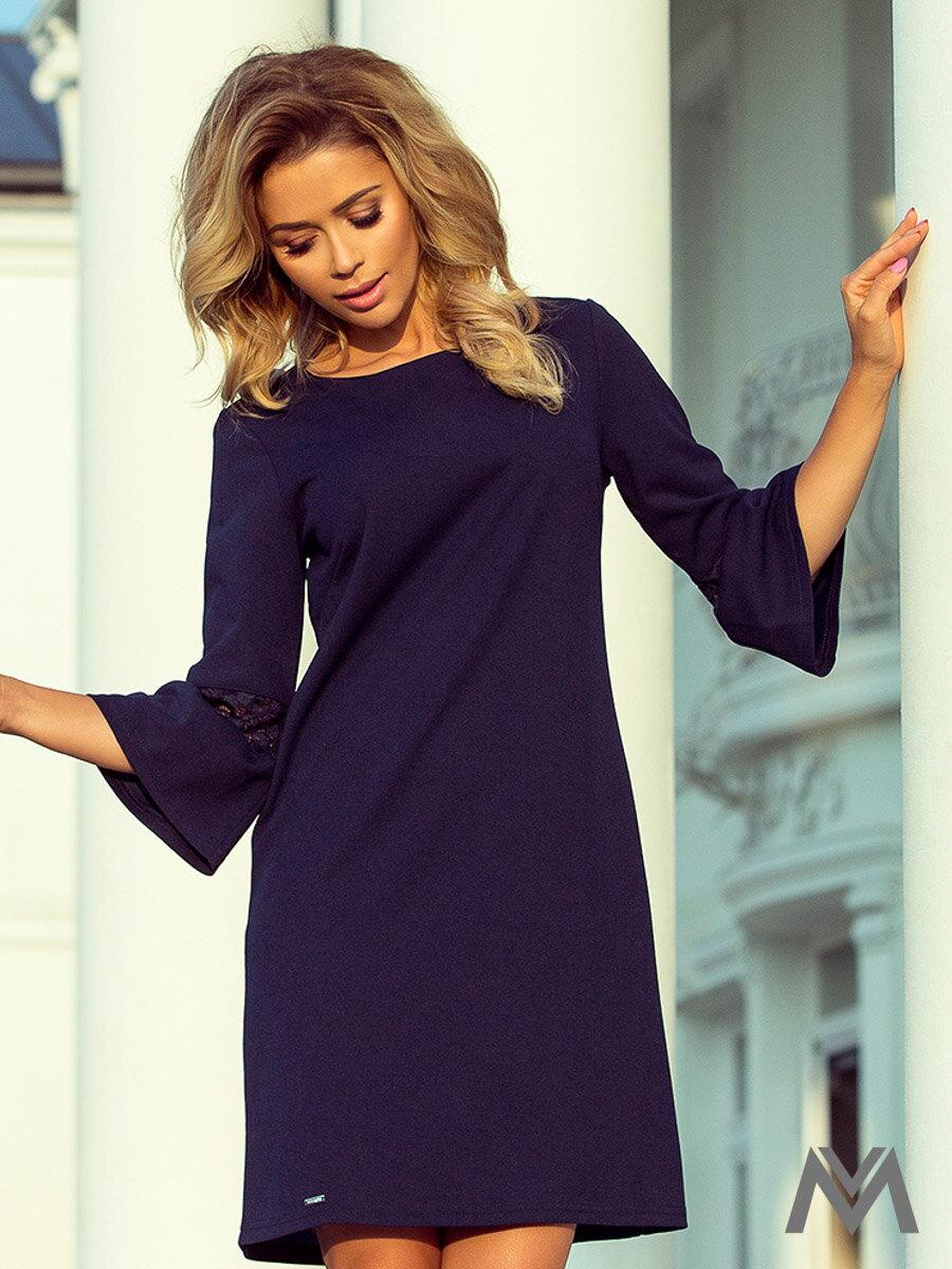 fcf0949435d2 Dámske šaty s rozšíreným rukávom Margaret 190-6 tmavomodré ...