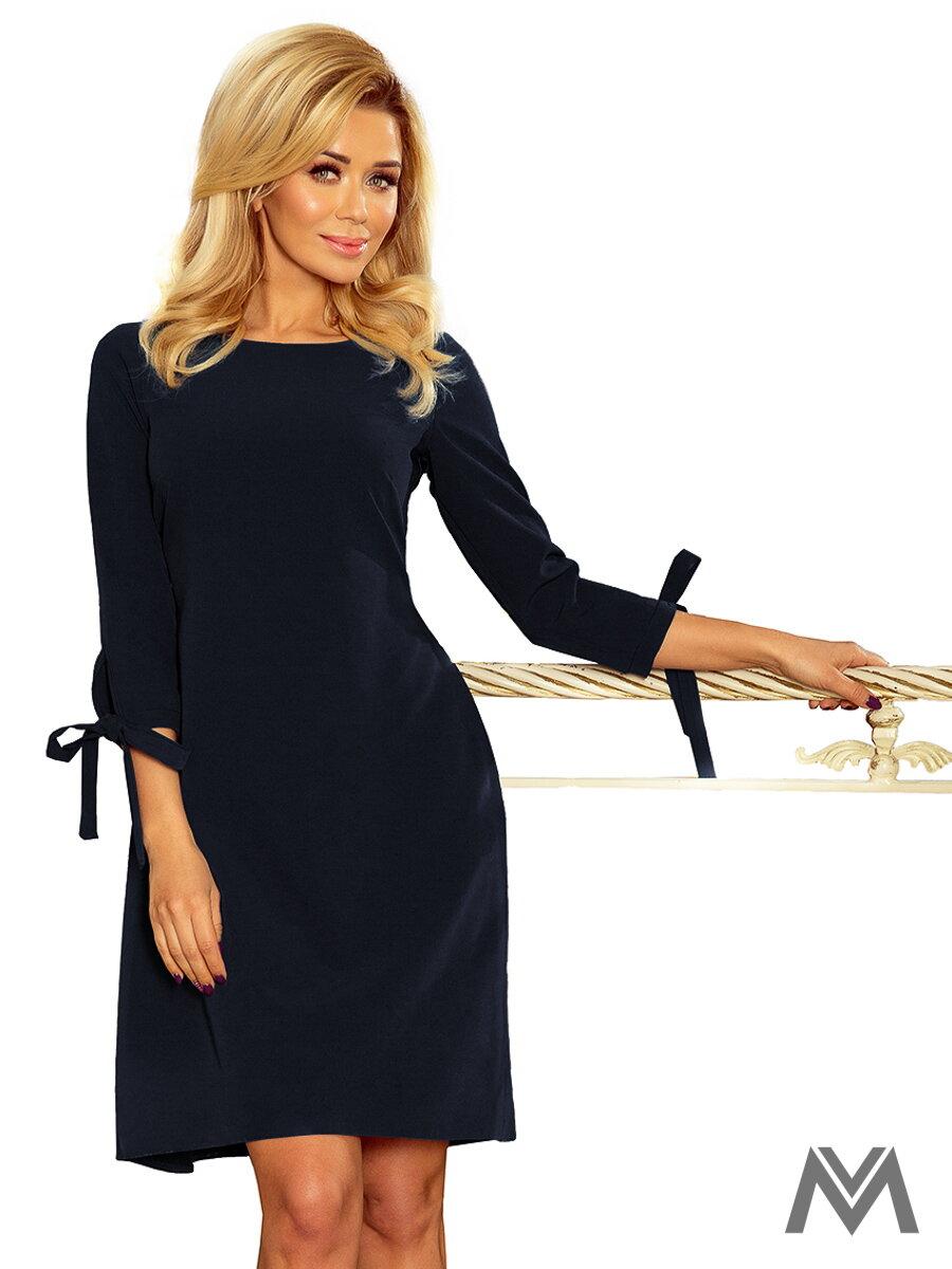4fafccf8c7 Elegantné dámske šaty Alice 195-3 tmavo modré ...