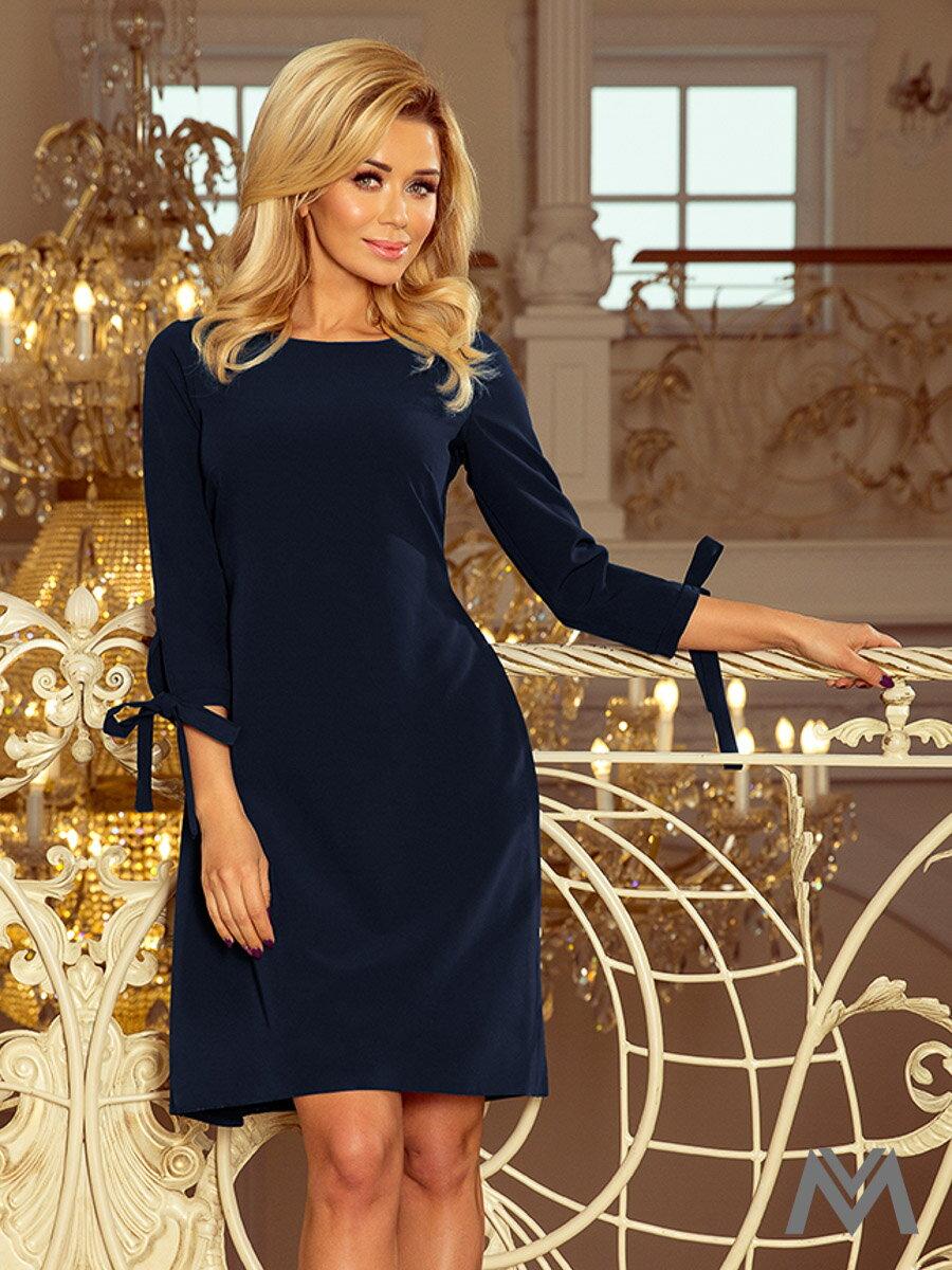 8882f8ae313f Elegantné dámske šaty Alice 195-3 tmavo modré ...